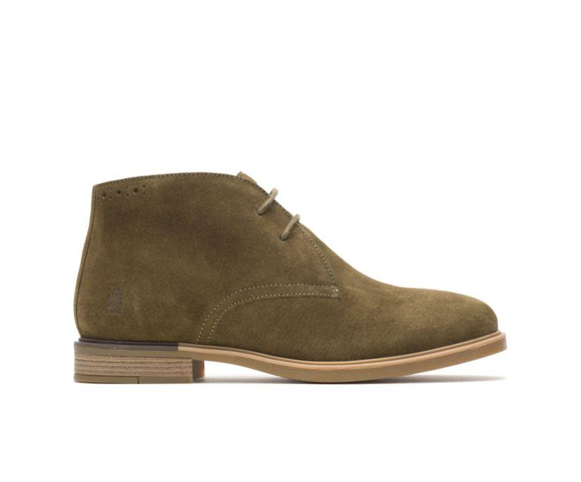 Women's Bailey Chukka Boot in Olive. Image via Hush Puppies.