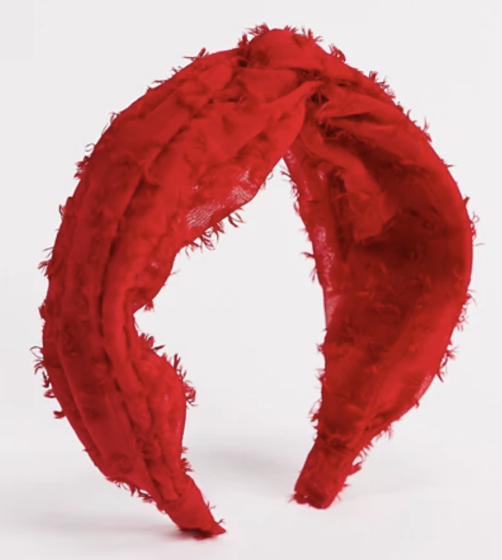 PHOTO: Zalora. Topshop headband with twisted knot detail in red
