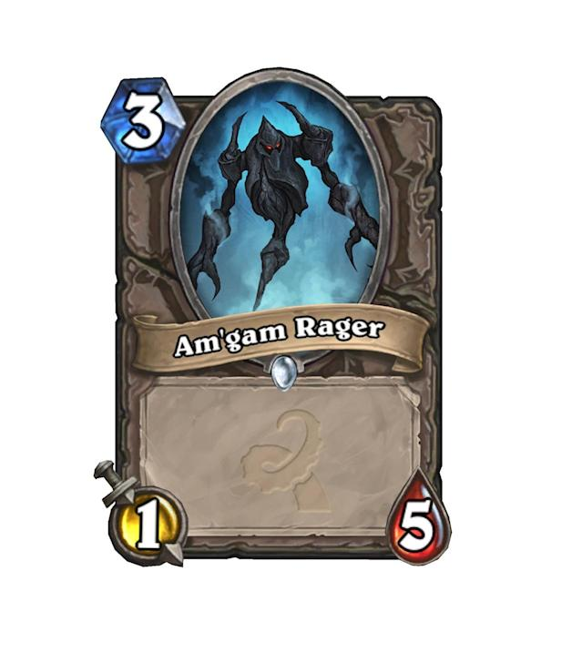 <p>Get it? It's Magma backwards? Like Magma Rager? Oh, forget it. It's a bad card anyway. </p>