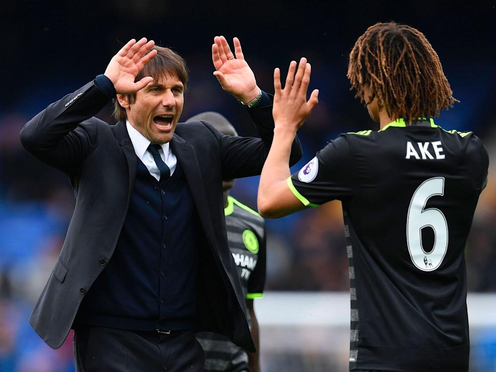 Antonio Conte was pleased with Nathan Ake's contribution at Everton: Getty