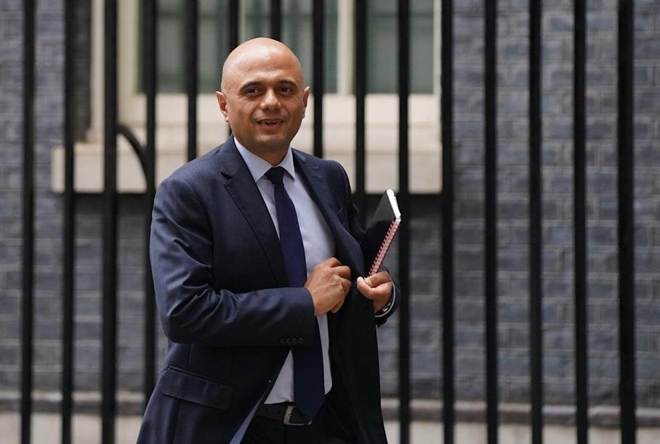 Sajid Javid said staff should not be working in care homes if they do not want to be vaccinated (Stefan Rousseau/PA) (PA Wire)