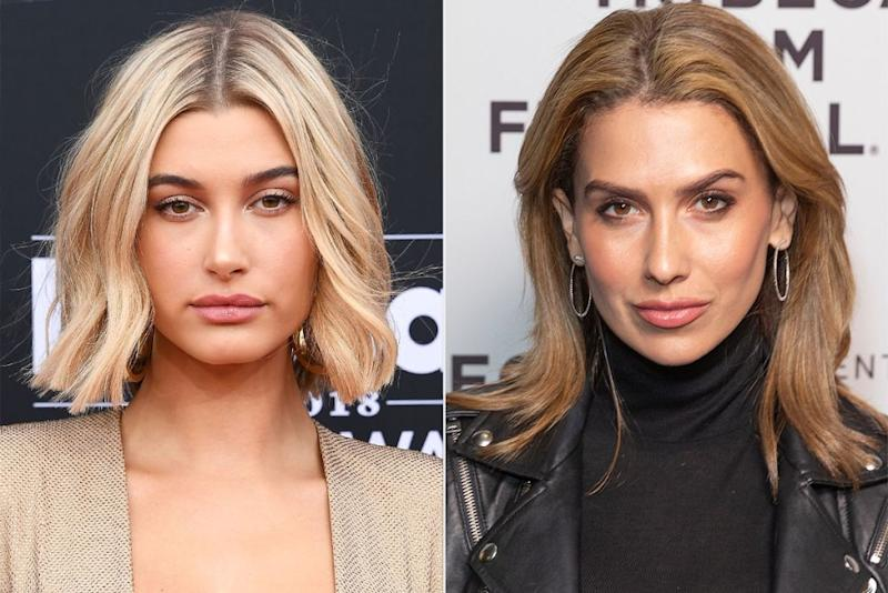 hailey baldwin; hilaria baldwin | Getty (2)