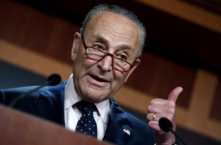 """Senate Majority Leader Chuck Schumer said the images of apparent abuse against migrants """"turn your stomach"""" (AFP/Olivier DOULIERY)"""