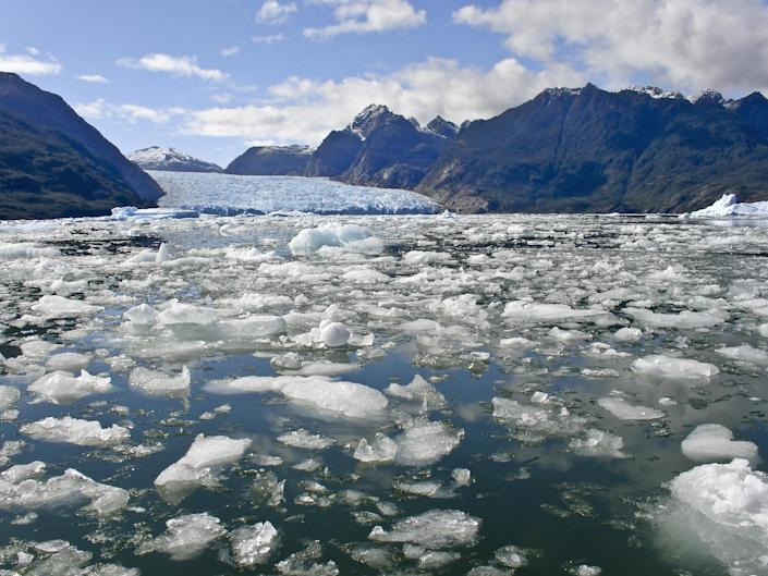 Warming seas are causing glaciers to calve ice into the oceans more rapidly, speeding up melt rates: Getty