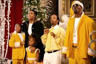 """<p>The holidays can be an especially lonely time for single parents, much like <a class=""""link rapid-noclick-resp"""" href=""""https://www.popsugar.com/Gabrielle-Union"""" rel=""""nofollow noopener"""" target=""""_blank"""" data-ylk=""""slk:Gabrielle Union"""">Gabrielle Union</a>'s character in this film. Nancy Taylor, a divorced mother of three, just wants to meet a nice man. Determined to see that her mother is happy, Nancy's daughter Emily asks a department-store Santa to help make her mother's wish come true. </p> <p>Underneath the Santa suit is aspiring songwriter Benjamin, played by Morris Chestnut, who lies about what he really does for a living. Filled with lots of laughs from <a class=""""link rapid-noclick-resp"""" href=""""https://www.popsugar.com/Queen-Latifah"""" rel=""""nofollow noopener"""" target=""""_blank"""" data-ylk=""""slk:Queen Latifah"""">Queen Latifah</a>, Terrence Howard, Katt Williams, Charlie Murphy, and more, this predictable yet charming holiday flick is definitely one to keep on the list.</p> <p><span>Watch <strong>The Perfect Holiday</strong> on Amazon Prime Video</span>.</p>"""