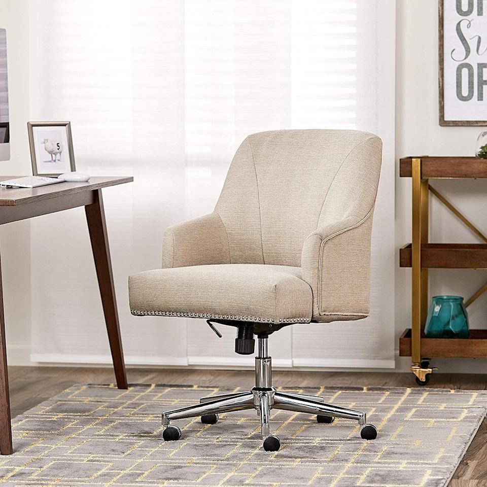 <p>Working a long day will feel like a breeze in this comfy <span>Serta Style Leighton Home Office Chair</span> ($132, originally $180).</p>