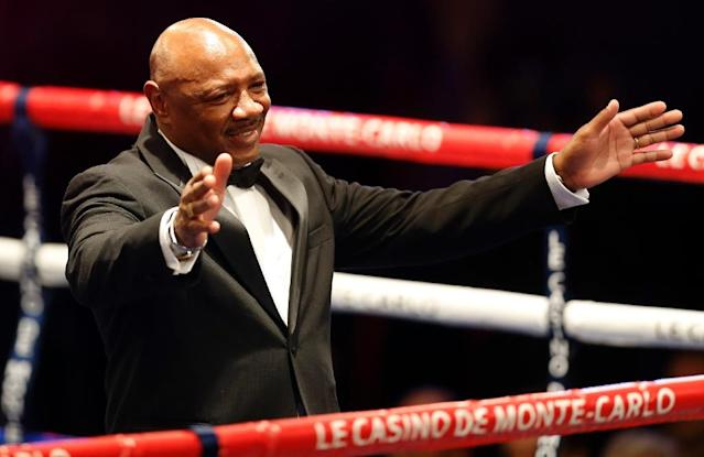 Legendary American boxer Marvelous Marvin Hagler would love to be cast in another action adventure movie, he told AFP (AFP Photo/VALERY HACHE)