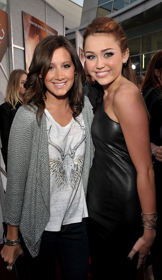 "<a href=""http://movies.yahoo.com/movie/contributor/1804504114"">Ashley Tisdale</a> and <a href=""http://movies.yahoo.com/movie/contributor/1809849015"">Miley Cyrus</a> at the Los Angeles premiere of <a href=""http://movies.yahoo.com/movie/1810098775/info"">The Last Song</a> - 03/25/2010"
