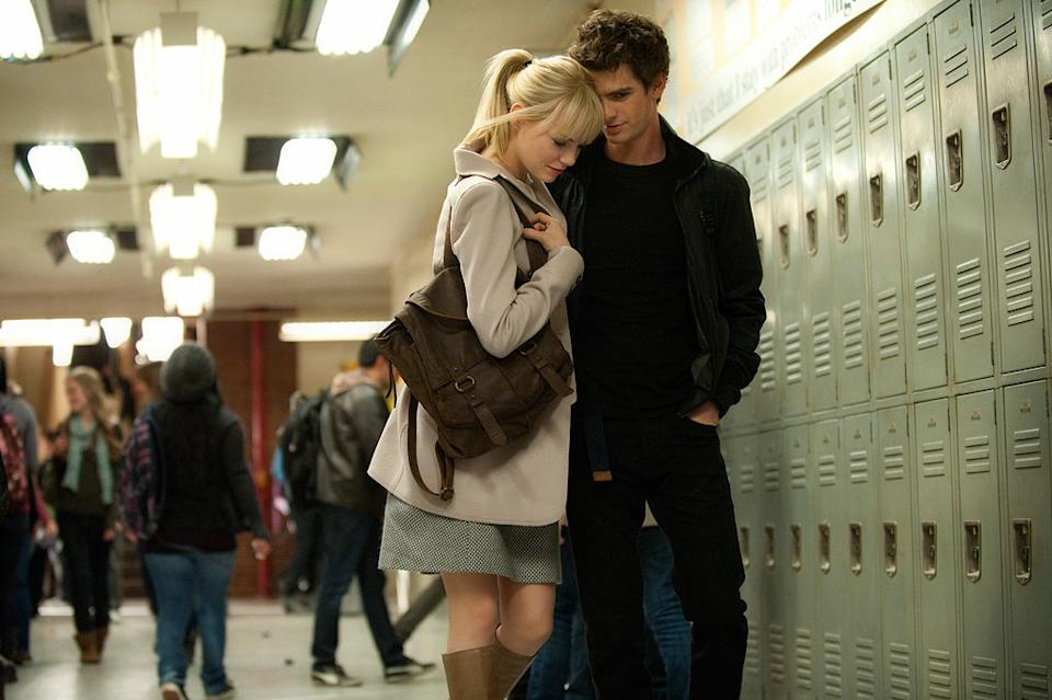 """Emma Stone and Andrew Garfield in Columbia Pictures' """"The Amazing Spider-Man"""" - 2012"""