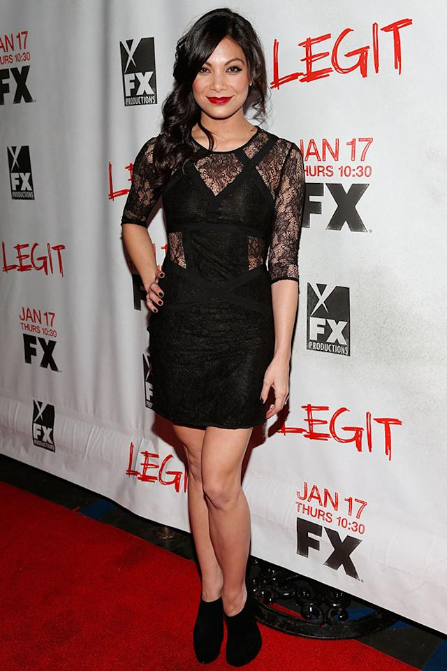 "Ginger Gonzaga attends the screening of FX's new comedy series ""Legit"" on January 14, 2013 in Los Angeles, California."