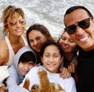 <p>The pair postponed their wedding due to the COVID-19 pandemic and social distanced in Miami with their families. </p>