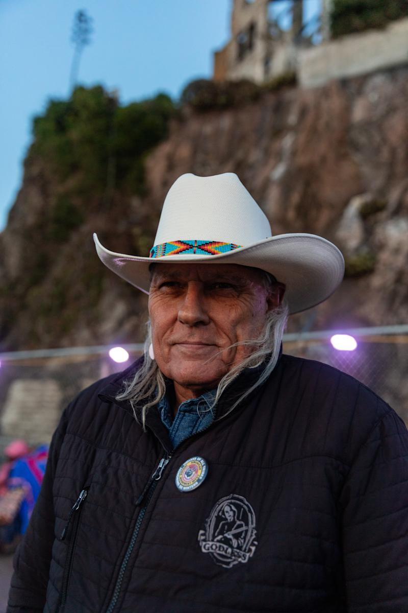 Michael Horse, an activist and actor known best for his role as Deputy Hawk in Twin Peaks.