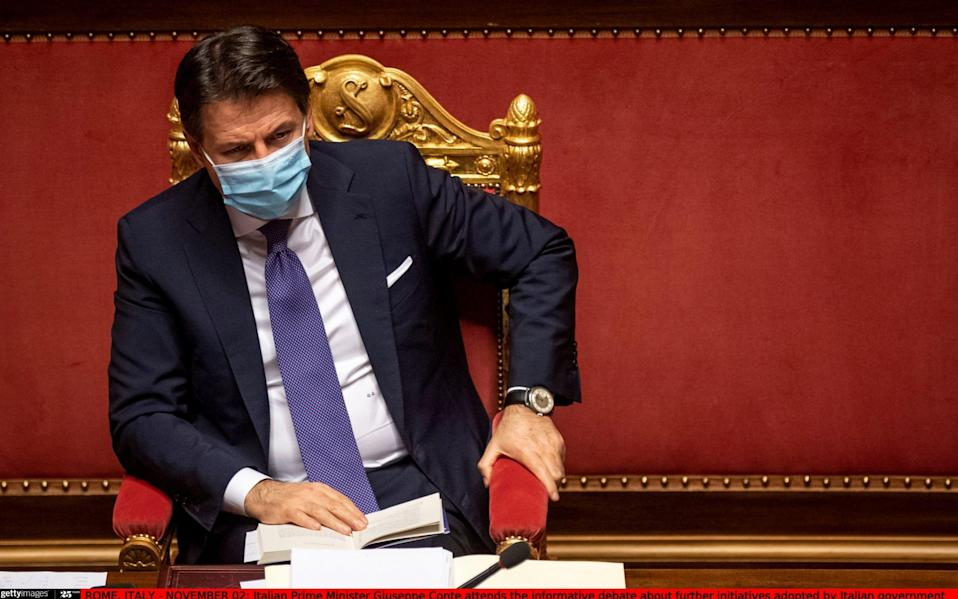 Italian Prime Minister Giuseppe Conte this week faces potentially the biggest challenges yet to his leadership - Getty/Getty