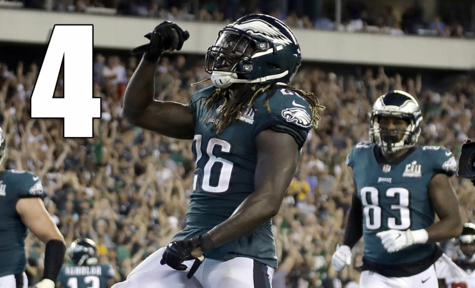 <p>There's a lot of talk about Carson Wentz and Nick Foles, but it seems like that has overshadowed that the Eagles defense looks even better. (Jay Ajayi) </p>