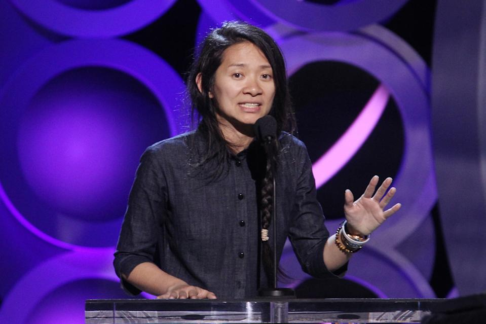 Chloe Zhao speaks onstage during the Film Independent Spirit Awards on March 3, 2018. (Photo by Tommaso Boddi/Getty Images)
