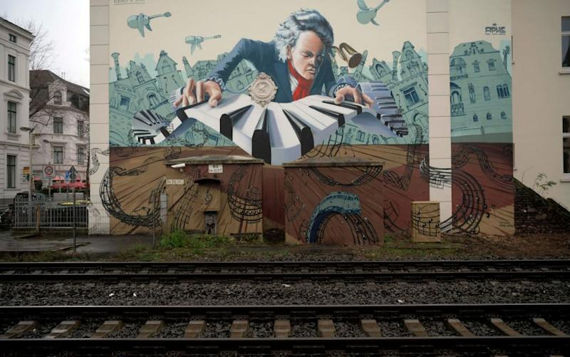 A mural inspired by the great composer in Bonn - getty