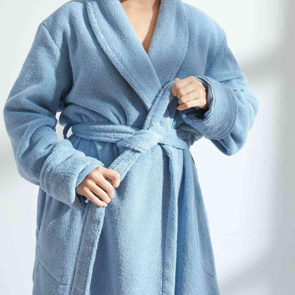<p>They'll spend their winter cuddled up in the <span>Brooklinen Super-Plush Robe</span> ($78, originally $98).</p>