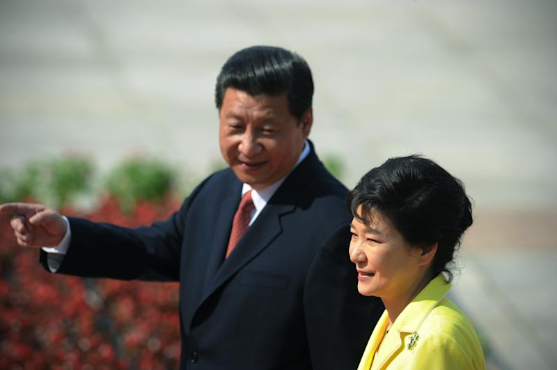 SKorean president in Beijing for summit with Xi
