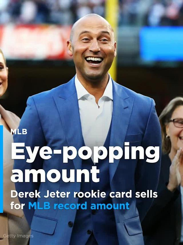 An eBay bidder recently bought a foil Derek Jeter rookie card for $99,100.