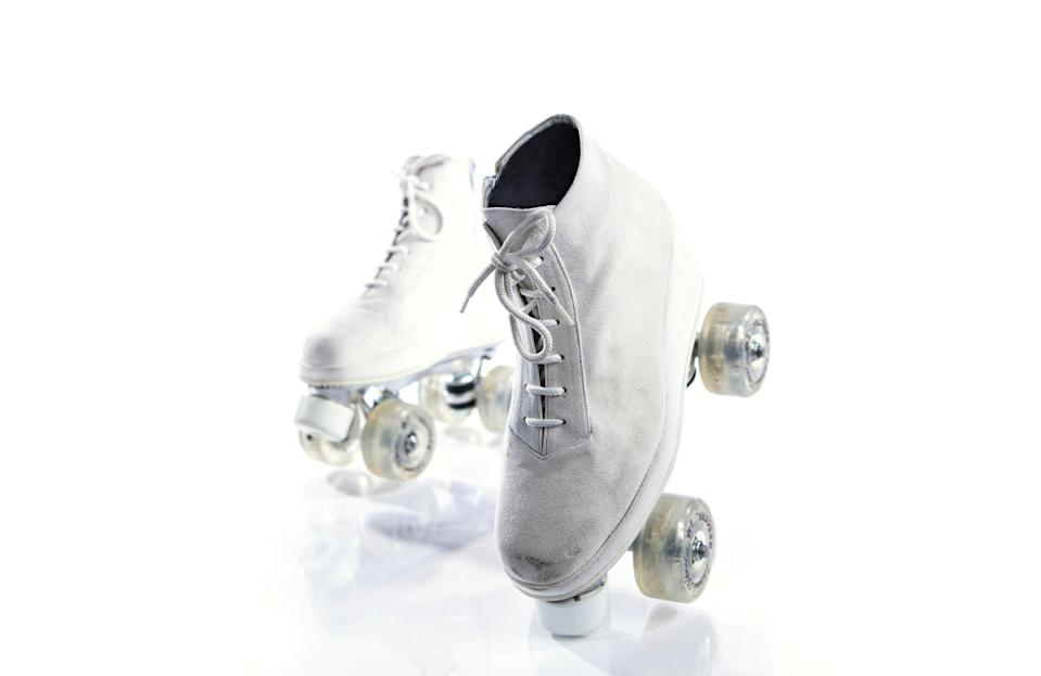 These Andre No. 1 roller skates were originally found stored in a briefcase.