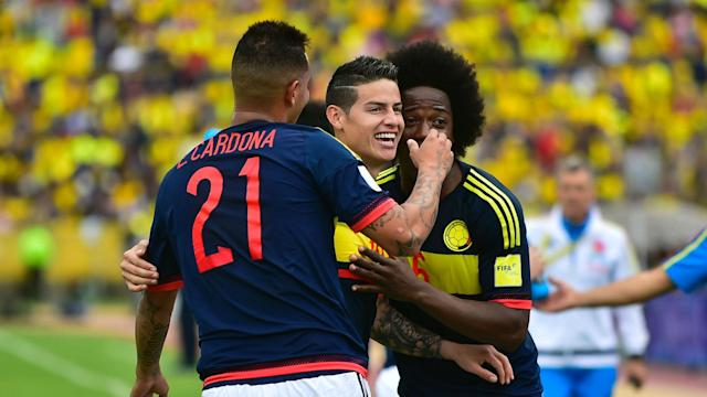 Colombia celebra vs Ecuador Eliminatoria Sudamericana 29032017