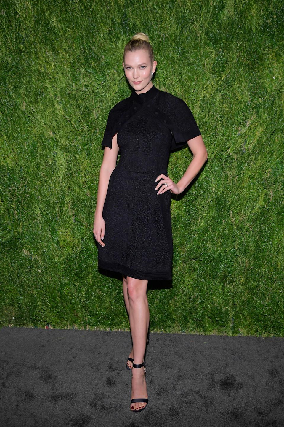<p>The model picked out a LBD by Brandon Maxwell. <span><em>[Photo: Getty]</em></span> </p>