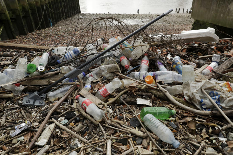 Amid a flood of plastic, big companies try to clean up image