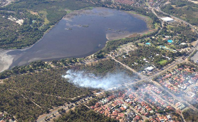The North Lake fire is controlled but not contained. Picture: Simon Hydzik/Seven News