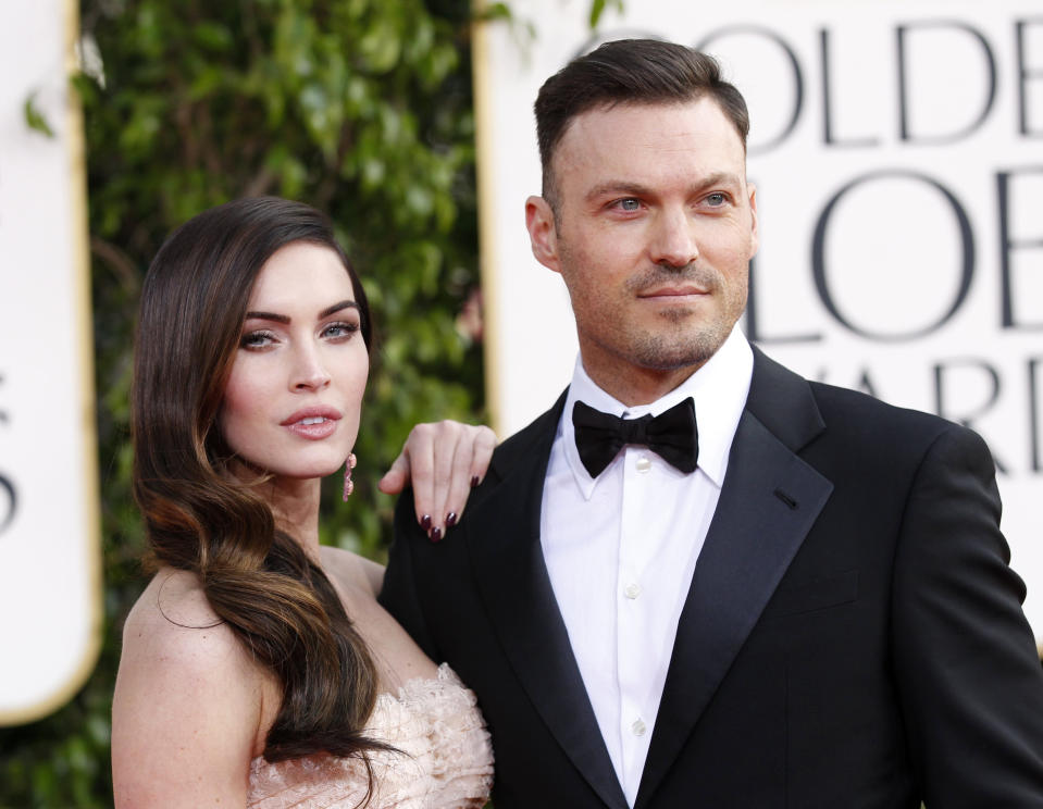 Brian Austin Green (pictured with estranged wife Magen Fox in 2013) hasn't ruled out reuniting with the actress. (Photo: REUTERS/Mario Anzuoni)