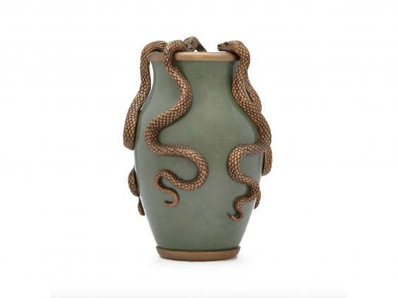 Fill with lush, green leaves and make this serpent vase a centrepiece (House of Hackney)
