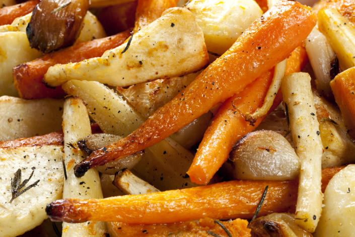 """<p>Although it is not recommended that you cook and then freeze all of your veggies this Christmas, you can do so with parsnips.<br><br>According to <a rel=""""nofollow noopener"""" href=""""http://www.deliciousmagazine.co.uk/stories/our-freeze-ahead-christmas-tips/"""" target=""""_blank"""" data-ylk=""""slk:Delicious"""" class=""""link rapid-noclick-resp""""><em>Delicious</em></a> magazine, you need to parboil the vegetables for three minutes before sieving them through a colander. <br><br>Then, sprinkle with rosemary or thyme before popping into freezer bags. They can be stored for up to a month. <em>[Photo: Getty]</em> </p>"""