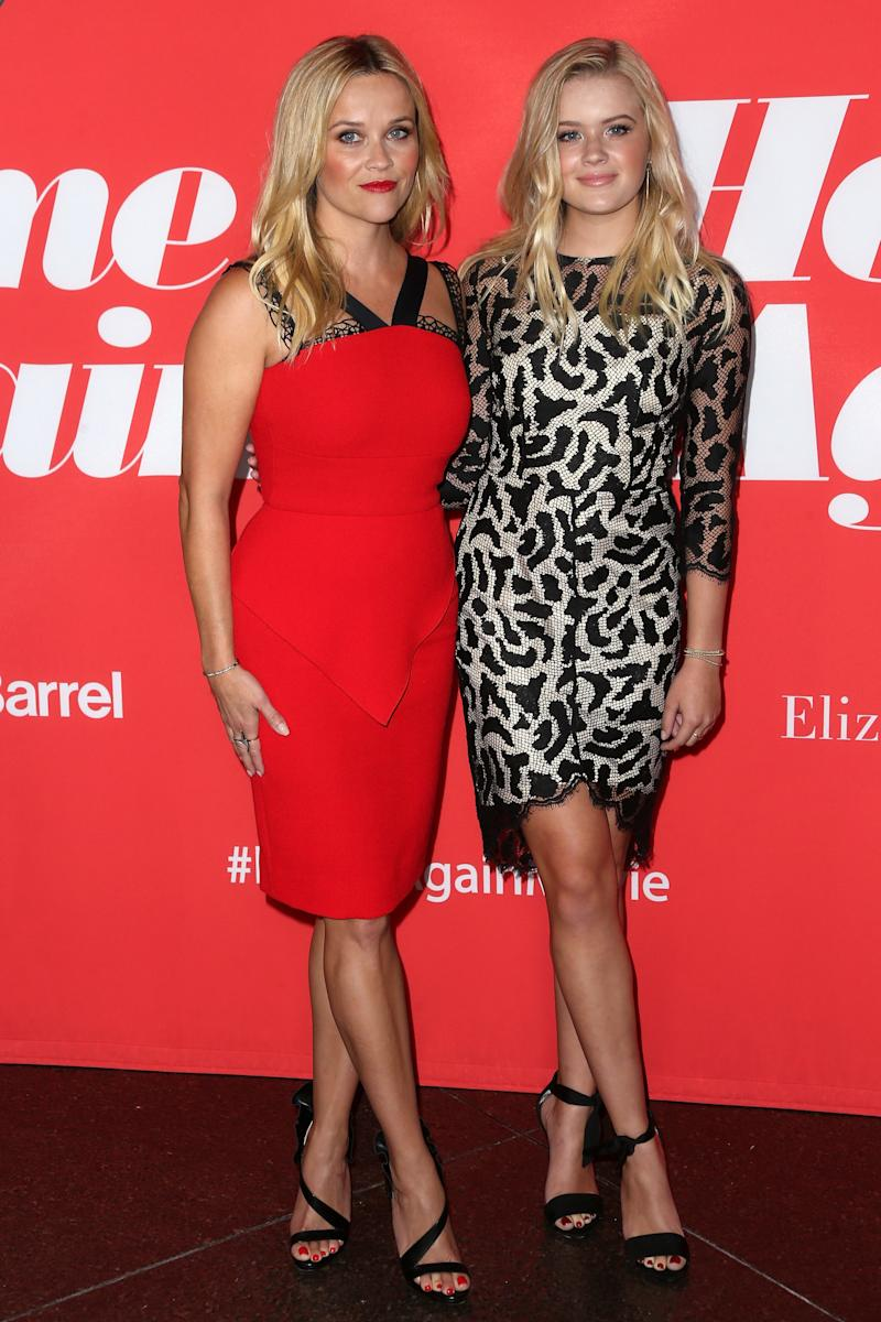 "Reese Witherspoon and daughter Ava at the premiere of ""Home Again.""  (Frederick M. Brown via Getty Images)"