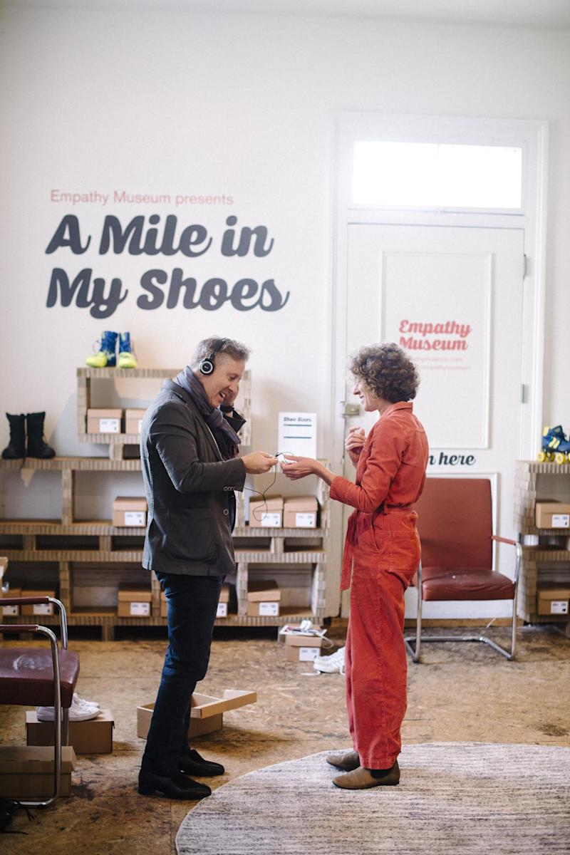 Visitors will be given a pair of shoes and the story of their owner to listen to as they walk (Empathy Museum)