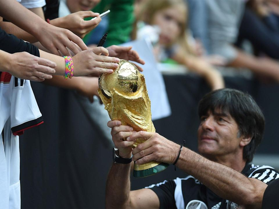 The 61-year-old helped Germany win the 2014 World Cup in Brazil (Getty)Getty Images