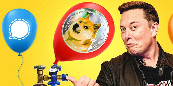 elon musk dogecoin pumping stocks 2x1