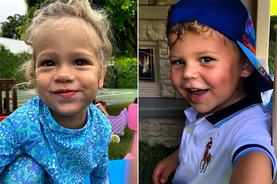 """<p>In honor of the twins' 3rd birthdays, Kournikova shared <a href=""""https://www.instagram.com/p/CI3uYLqBXZY/"""" rel=""""nofollow noopener"""" target=""""_blank"""" data-ylk=""""slk:photos of Lucy"""" class=""""link rapid-noclick-resp"""">photos of Lucy</a> (left) and <a href=""""https://www.instagram.com/p/CI3uI7XhGgq/"""" rel=""""nofollow noopener"""" target=""""_blank"""" data-ylk=""""slk:Nicholas"""" class=""""link rapid-noclick-resp"""">Nicholas</a> (right) in December 2020. </p>"""