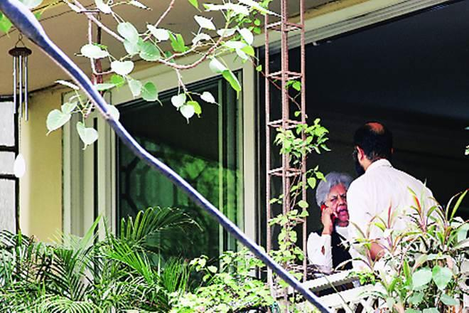 Senior lawyer Indira Jaising at her New Delhi home which was searched on Thursday (Image: Tashi Tobgyal)