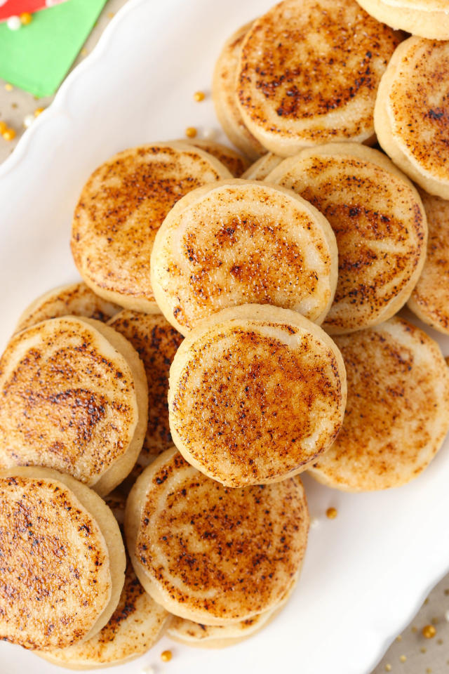 """<p>Caramelized sugar is our new favorite sprinkles sub.</p><p>Get the recipe from <a rel=""""nofollow"""" href=""""http://www.delish.com/cooking/recipe-ideas/recipes/a50280/creme-brulee-sugar-cookies-recipe/"""">Delish</a>.</p>"""