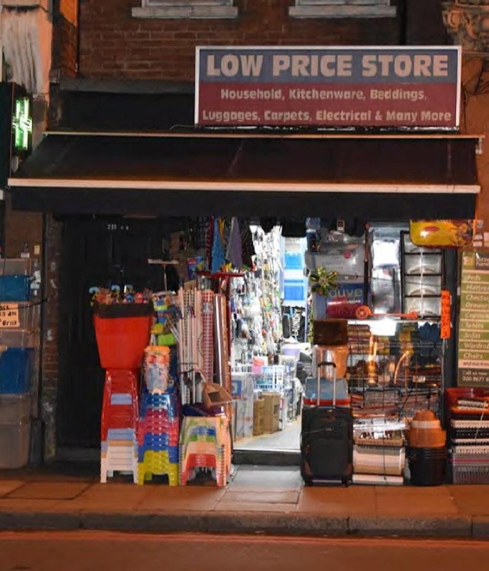 The Low Price Store in Streatham High Road where Sudesh Amman stole a knife, having visited it days earlier (Metropolitan Police/PA) (PA Media)