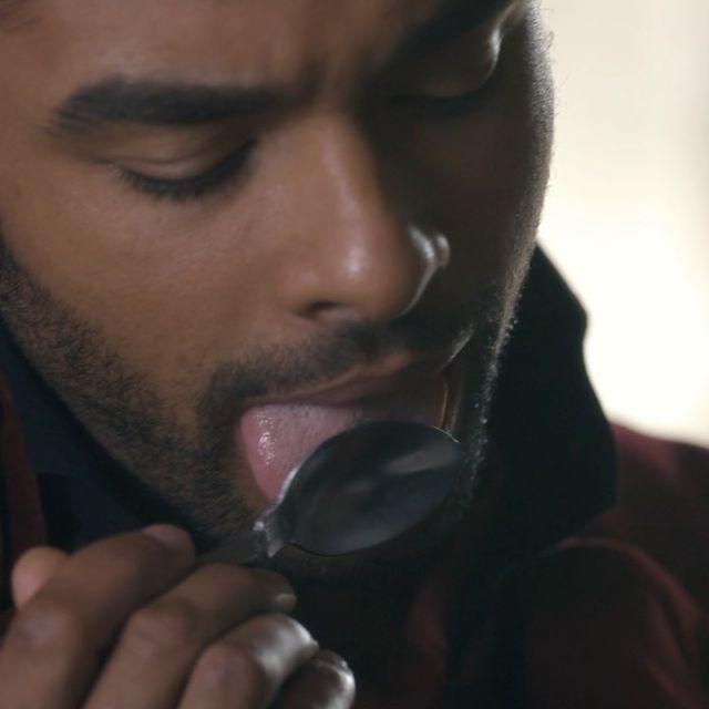 <p>No roundup of Page's sexiest snaps could be complete without an ode to ... whatever it is he's doing to this lucky spoon. </p>