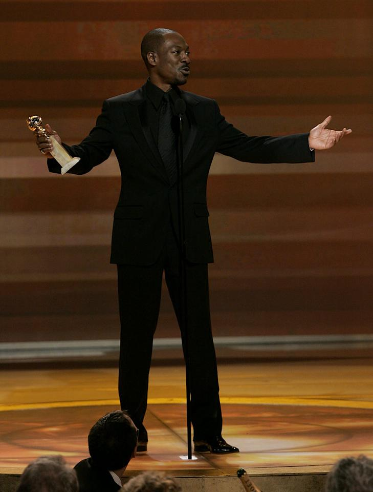 "<a href=""/eddie-murphy/contributor/28626"">Eddie Murphy</a> gives a heartfelt acceptance speech when he wins Best Supporting Actor for ""Dreamgirls"" at <a href=""/the-64th-annual-golden-globe-awards/show/40075"">the 64th annual Golden Globe Awards</a>."