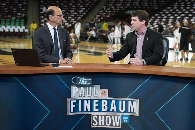 Paul Finebaum (L) is an SEC staple. (Photo by Lance King/Getty Images)