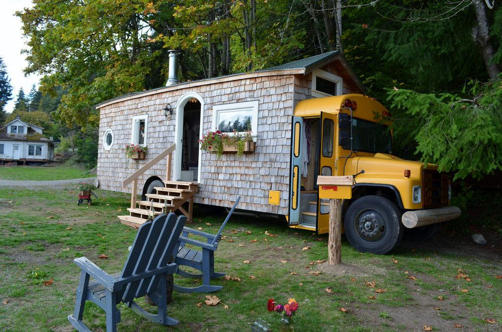 The Tiny School Bus House