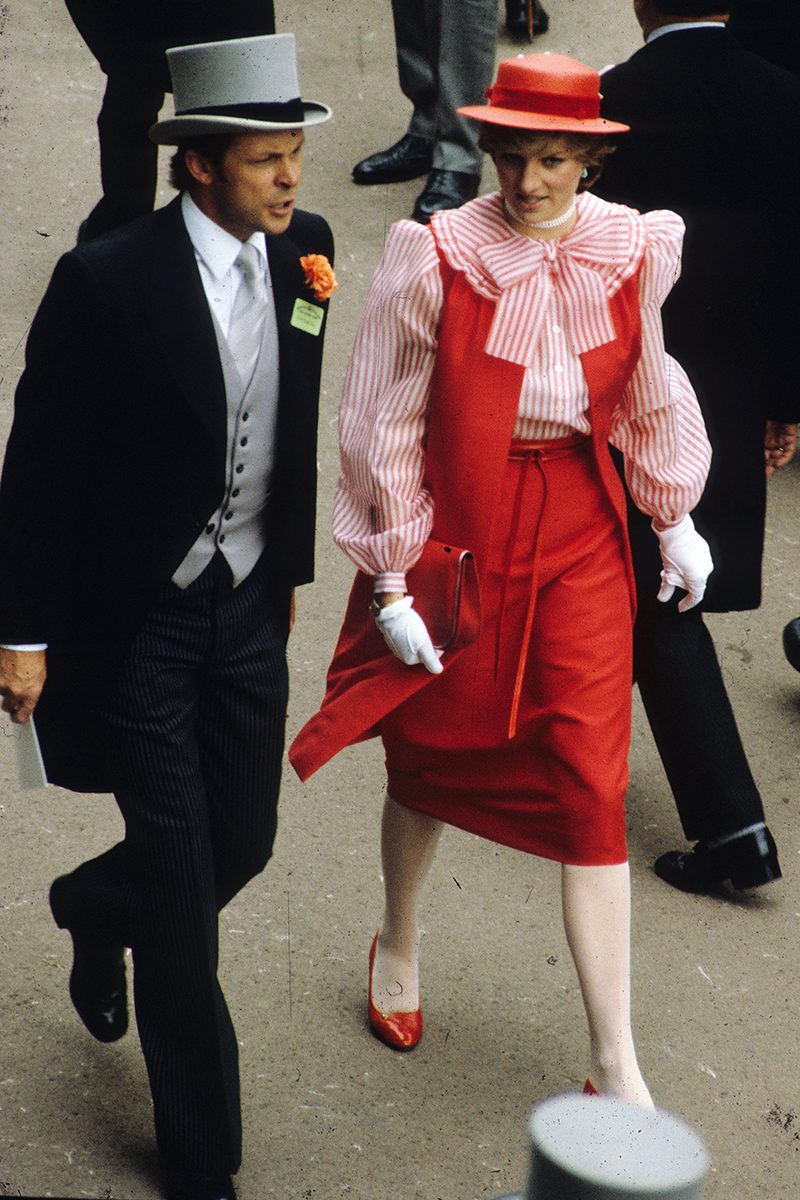 <p>The soon-to-be-royal sure knew how to stand out, wearing this statement, almost retro barbershop look for a visit to Royal Ascot. </p>