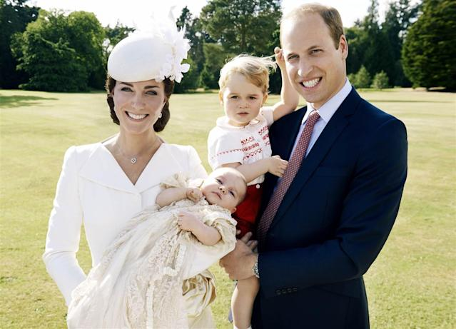 <p>An official photo, taken by renowned photographer Mario Testino, marked Princess Charlotte's christening in the summer of 2015. (Photo: Mario Testino) </p>