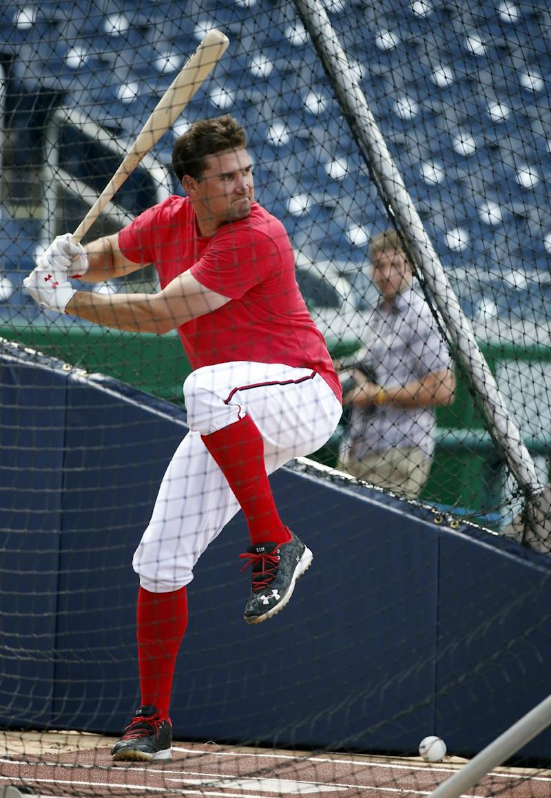 Nationals' Ryan Zimmerman makes outfield debut