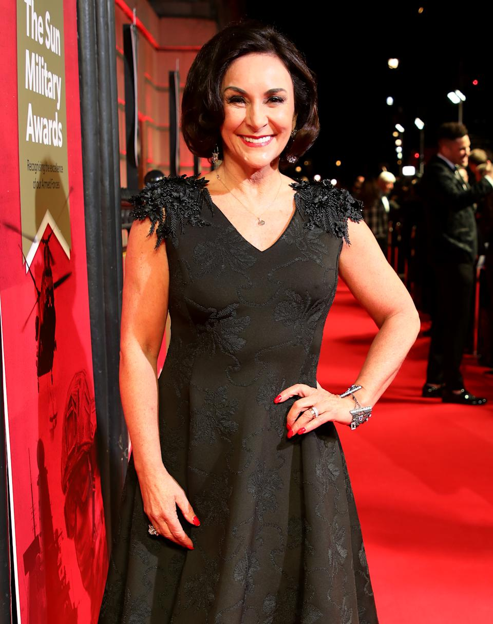 Shirley Ballas attending The Sun Military Awards 2020 held at the Banqueting House, London. (Photo by David Parry/PA Images via Getty Images)