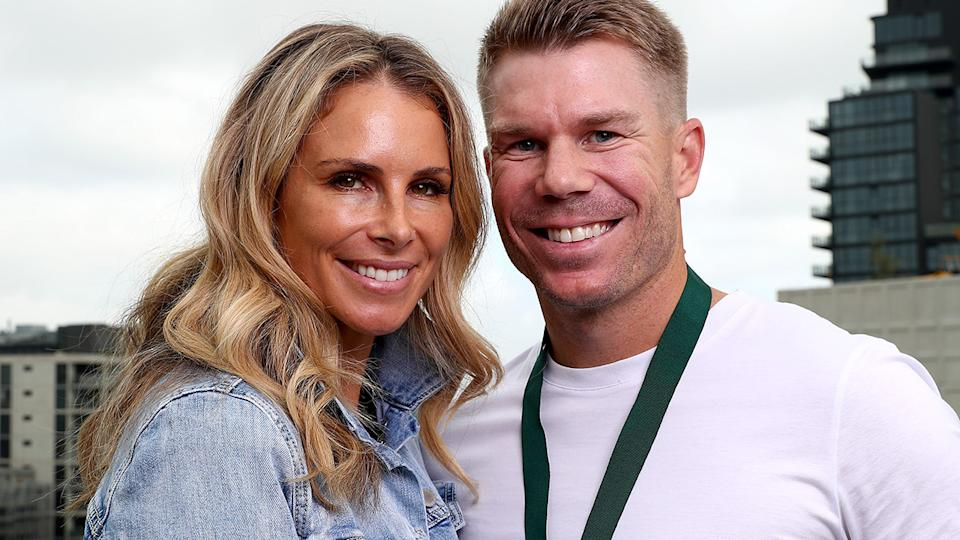 Candice and David Warner, pictured here earlier in 2020.