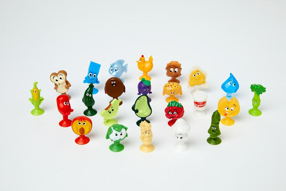 A photo of the Coles Stikeez collectables.