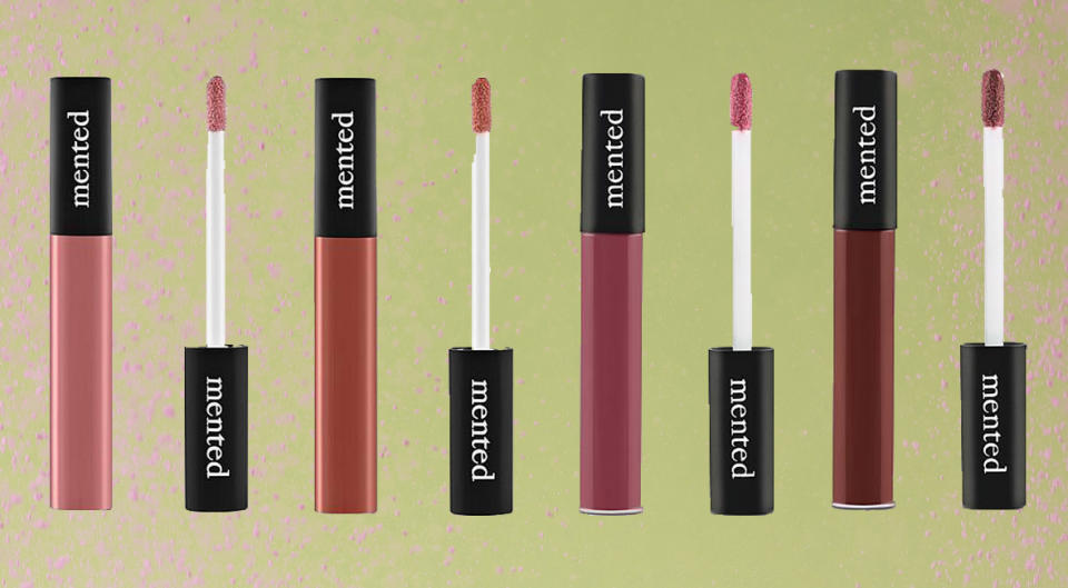 Mented lip gloss comes in seven rich neutrals. (Photo: HSN/Getty)